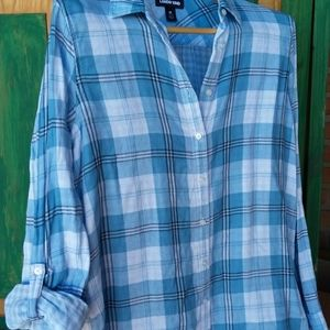 Double Cotton Shirt tail Button down